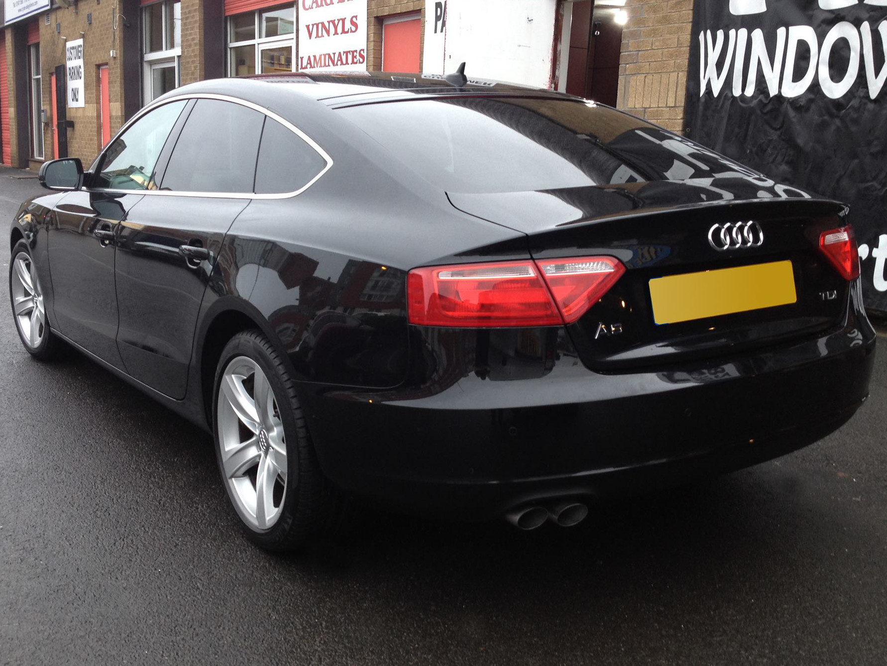 Car window tints fitted on an Audi A5 Sporthatch