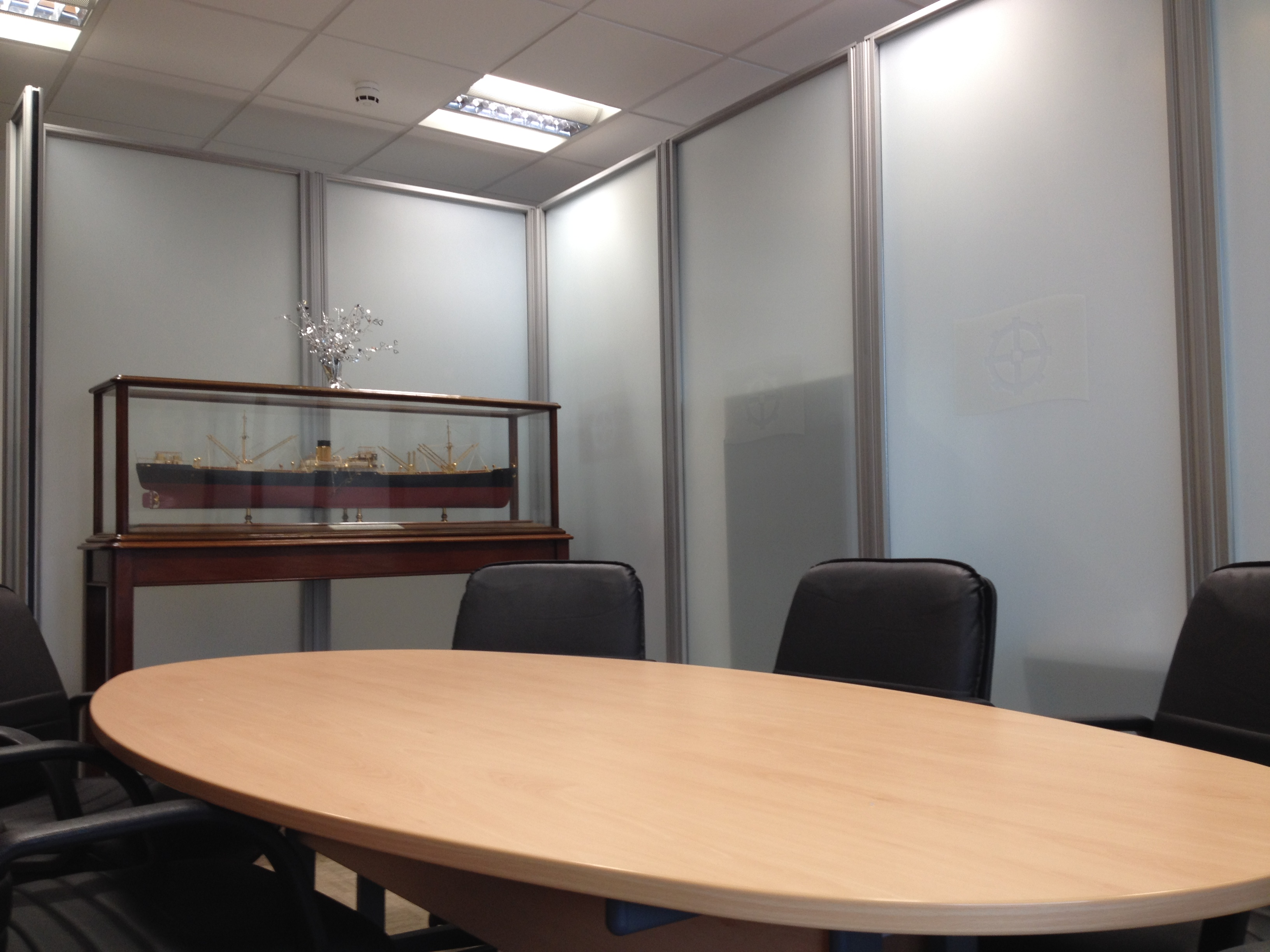two way opaque privacy tinting film applied to internal office windows